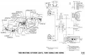 1968 mustang wiring diagrams and vacuum schematics average joe 1968 mustang wiring diagram exterior lights turn signals