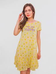 <b>Ночная</b> рубашка женская <b>Mark Formelle</b> Лимоны, цвет: желтый ...