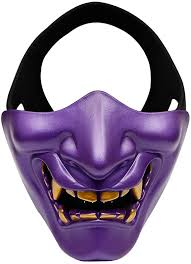 WDDH Evil Smile Half Face <b>Mask</b> Skull <b>Scary Mask</b> Hunting <b>Game</b> ...