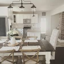 Rustic Farmhouse Kitchens Rustic Modern Farmhouse With Farmhouse Table With A Wood Top And