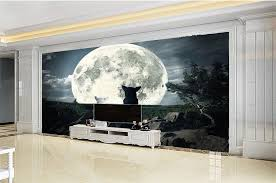 <b>Custom Any Size</b> 3d Wallpaper Dream Night Couple Wolf 3d Animal ...