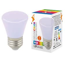 <b>Лампочка Volpe LED</b>-<b>D45</b>-<b>1W</b>/RGB/<b>E27</b>/<b>FR/С</b> BELL Bell <b>LED</b>-<b>D45</b> ...