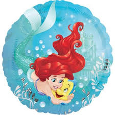 Flounder & Ariel <b>Balloon</b> 17in - The <b>Little Mermaid</b> | <b>Party</b> City