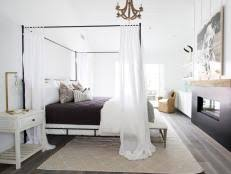 white modern cottage master bedroom with built in fireplace 9 photos amazing white black bedroom