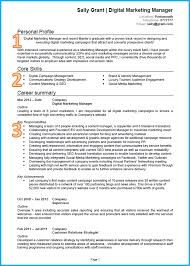 example of a good cv marketing example i ve included some helpful notes below the cv