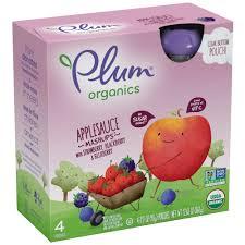 Plum <b>Organics Applesauce Mashups</b> Strawberry, Blackberry ...