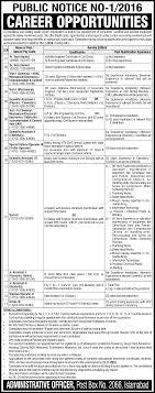 public notice no po box islamabad jobs scientific public notice no 1 2016 po box 2066 islamabad jobs 2016 scientific assistants technicians eligibility criteria