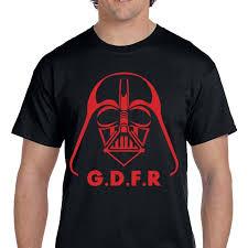 Darth Vader GDFR Star Wars Fan Art <b>Custom Cotton</b> TShirt ...