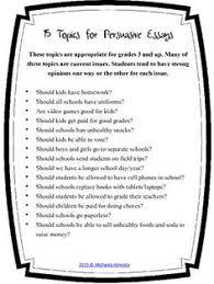 persuasive writing topics for elementary students   adorno essay    persuasive writing examples