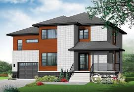 House plan W  V detail from DrummondHousePlans comfront   BASE MODEL Large bedroom Modern Home   two family room upstairs   Enclave