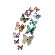 12X <b>3D Luminous</b> Butterfly Art Decal Home Decor Wall Mural Sticker ...