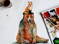 80+ <b>Fox</b> and <b>Bear</b> ideas in 2020 | <b>fox</b>, <b>bear</b>, illustration art