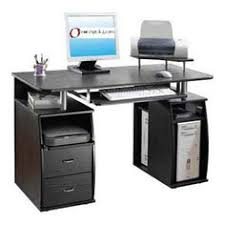 overstock give your home office a touch of professionalism with this executive style computer desk desk features powder coated steel frame sleek desk black computer desks home