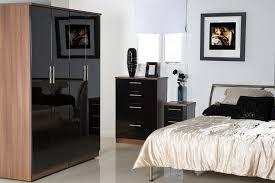 bedroom furniture black gloss and walnut photo 3 bedroom furniture in black