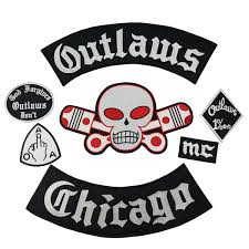 Hot Sale <b>Outlaw Chicago</b> Patch MC Embroidered Full Back Punk ...