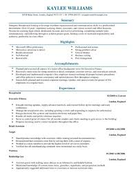 medical receptionist resume sample  resume  resume examples for    receptionist and customer service resume