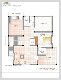 Duplex House Plan and Elevation   Sq  Ft    home applianceFirst Floor Plan   Sq M   Sq  Ft