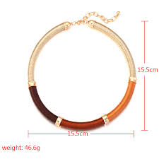 New Fashion Handmade Rope Chain Statement <b>Necklace Women</b> ...