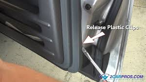 how to remove a door panel in less than 15 minutes once all mounting screws or bolts and plastic mounting clips have been released or removed lift up on the door panel to release it from the window sill