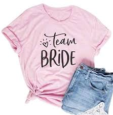 Team <b>Bride</b> Bachelorette <b>Party Pink</b> Tee T Shirt Tops Women Funny ...