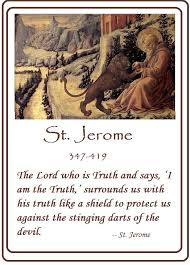 St. Jerome Quotes | St. Jerome and the Lion by Fra Filippo Lipp ...