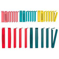 <b>БЕВАРА Зажим</b> для пакетов,30 штук, разные цвета разные ...