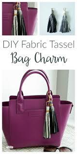 <b>Fabric Tassel</b> Bag Charm <b>DIY</b> Tutorial