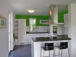 small modern open kitchen design with white cabinet and lighting cabinet and lighting