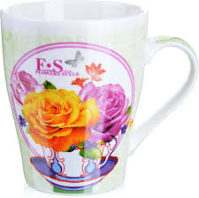 <b>Кружка Loraine Цветы</b>, цвет: белый, розовый, голубой, <b>340</b> мл ...