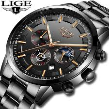 Relojes 2018 <b>Watch Men</b> LIGE Fashion Sport Quartz Clock <b>Mens</b> ...