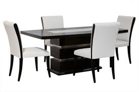 dining room chairs leather black white