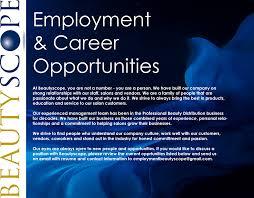 employment opportunities beautyscope llc