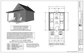 ′ X ′ X ′  BUNK CABIN Plan   Free House Plan ReviewsFree Download   ′ X ′ X ′  BUNK CABIN Plan
