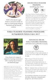 sun moon yoga dorval ytt yoga teacher training programs fall 2017