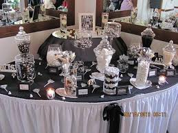 Image result for add a lot of visual interest to your candy buffet table