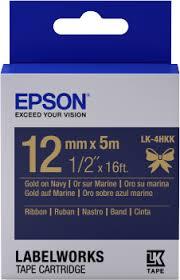 <b>Epson</b> Label Cartridge <b>Satin Ribbon LK</b>-<b>4HKK</b> Gold/Navy 12mm (5m)