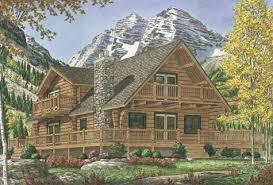 Custom Log Home PlansThe Marias Log Home Plan