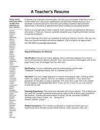 Resume Headline Teachers