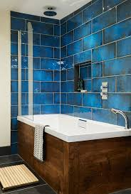 blue bathroom tile ideas: give your walls the the wow factor with intense blue and glossy finish of montblanc blue middot bathroom blue tilebathroom ideas