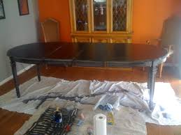 Restaining Kitchen Table Refinishing Old Dining Room Furniture For New Home Just Fine