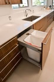cabinet bin pulls sink side by side trash cans instead of front to back waste bin pull out de