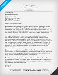 information technology cover letter sample technology cover letters