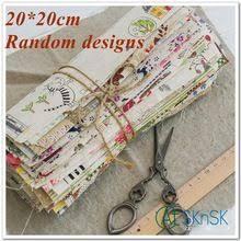 <b>8pcs</b>/lot 20*20cm Random design Good Fabric <b>hot sale</b> 100% cotton ...