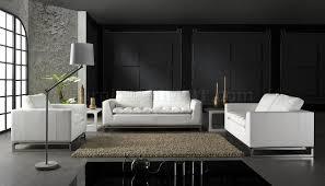 living room impressive white black or red top grain leather 3pc modern living room set black or white furniture