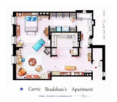 Artist Draws Detailed Floor Plans of Famous TV Shows   Bored PandaSex and the City