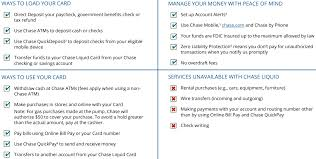 chase quickpay changes need chase checking or liquid prepaid card chase liquid prepaid reloadable debit card terms