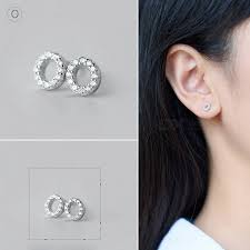 <b>Creative</b> Spelling English Alphabet O Stud <b>Earring</b> for <b>Women</b> - Silver