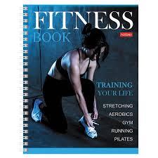 <b>Дневник Hatber</b> для фитнеса, <b>А5</b>, <b>96</b> листов, гребень, глянцевая ...