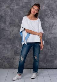 Свитер-<b>туника</b> трикотажный белого цвета | D.Sisters Sweater ...