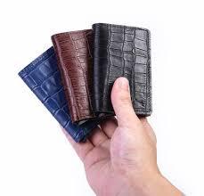 <b>Casekey Men Genuine Leather</b> Wallet With Rfid Blocking Crocodile ...